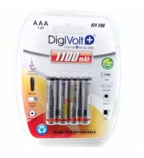 Pilas AAA 1.2V BT4-1100 DIGIVOLT BL 4 Uds