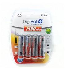 Pilas recargable AA 1.2V BT4-1400 DIGIVOLT BL 4 Uds