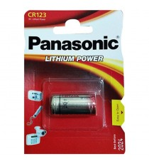 Pila Litio CR123 3V PANASONIC Lithium Power BL 1 Ud