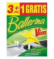 Bayeta Ballerina con microfibras 3+1 Uds