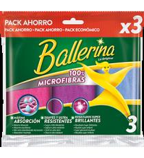 Bayeta multi Ballerina 100% microfibras 3 Uds.