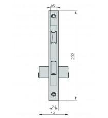 Cerradura Para Puertas Metálicas CVL 1964V/0