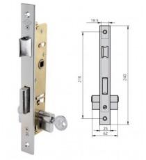 Cerradura Para Puertas Metálicas CVL 1984T25/6 AI/CN