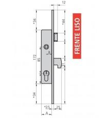 Cerradura Para Puertas Metálicas CVL 1994/30 FL. AI/CN