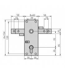 Cerradura Para Puertas Basculantes CVL 11/B