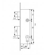 Cerradura monopunto deslizante 2210E entrada 25 TESA