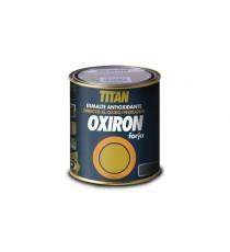 Esmalte liso oxiron satinado 375 ml negro efecto forja