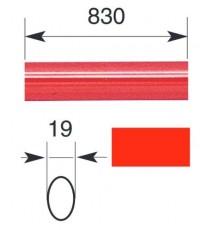 "Barra oval horizontal 830 mm para serie IDEA ""BASE"" y ""PUSH"""