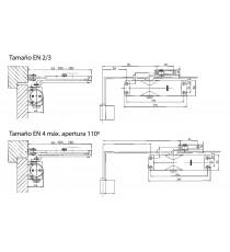Cierrapuertas Sin Retención Plata GEZE TS-1000