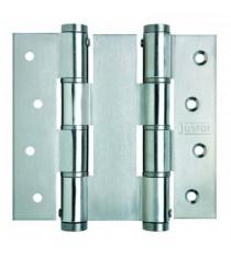 Bisagra doble acción de aluminio DA120 120x40 Plata JUSTOR