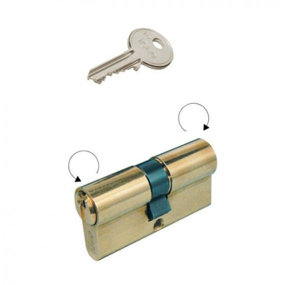 Cilindro F5 Doble perfil latón L 60 mm C30 D30 ISEO