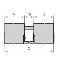 Cilindro Doble ovalado niquelado SERIE 5964 A25 B25 C66 CVL