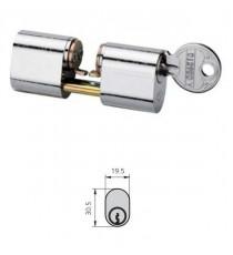 Cilindro Doble ovalado niquelado SERIE 5081 A26.5 B26.5 C74 CVL