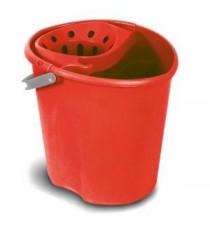Cubo Con Escurridor Ovalado Rojo Tatay