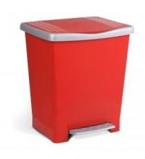 Cubo Con Pedal Millenium Rojo Tatay