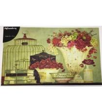 Felpudo Jarrón con flores 45x75 cm DOMUS