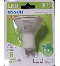 LÁMPARA DIACROICA LED DLP6 6W LUZ BLANCA 6400K GU10