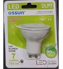 LÁMPARA DIACROICA LED DLP7 7W LUZ BLANCA 6400K GU10