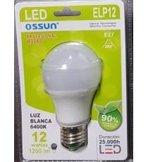LÁMPARA GLOBO LED ELP12 E27 12W LUZ BLANCA 6400K