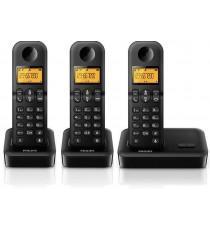 Teléfono inalámbrico Philips D1503B TRIO